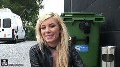 The beautiful blonde gets her hair done and talks about her dreams and fantasies