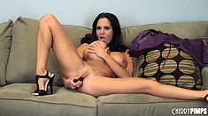 Busty Ava Addams finally gets down to the masturbation action