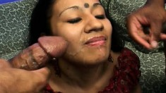 Mature Indian Babe With A Hairy Snatch Gets Double Teamed Raw