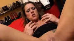 Busty Brunette Milf With Sexy Tattoos Gets Her Tight Ass Plowed