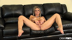 Abbey Brooks has no other options but to sit here and masturbate