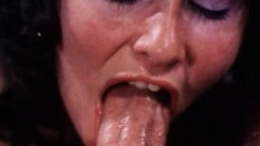 Linda Lovelace fucks a hard dick and takes a big cumload in her mouth