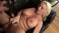Wild blonde Angelica Lauren gets into a fun lesbian fuck fest