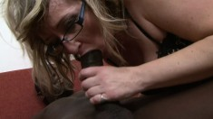 Hot and horny granny seduces and bangs a handsome black stallion