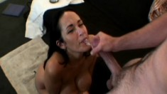 Voluptuous Carmella Bing pleases a huge dick like only she knows how
