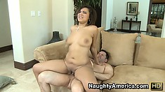 Catalina won't stop riding that big shaft until she finds the pleasure she seeks