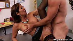 Stacked Latina teacher Tara Holiday gives him a lesson in human pleasure