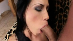 Kinky brunette in red stockings brings her anal fantasies to fruition