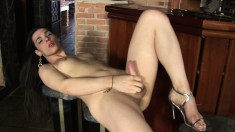 Provocative Tranny Agatha Gives Her Long Stick The Attention It Needs