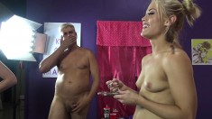 Ash Hollywood Share A Big Vibrator And A Hard Prick With Farrah Flower