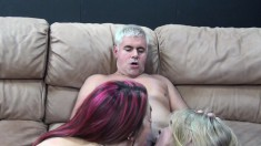 Avril Hall and Elektra Foxx put their fabulous oral skills into action