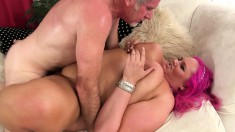 Sensual Plumper Has A Hung Guy Fucking Her Pussy The Way She Likes It