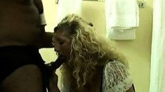 Curly Haired Blonde Creampied By Black Man