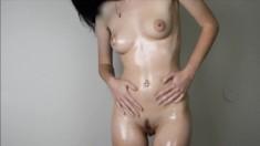 Skinny Asian Babe Masturbating On Camera
