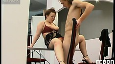 Ophelia C and Marcus get kinky in the kitchen and fuck on the table