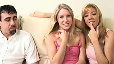 Horny couple experiment with having a FFM threesome and like it