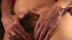 Horny grannies love to get fucked and this one's hairy pussy gets lucky