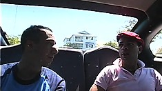 Two hung guys go on a blind date and end up deep anal fucking