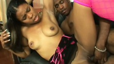 A stiff stingray is all this young ebony amateur needs for satisfaction