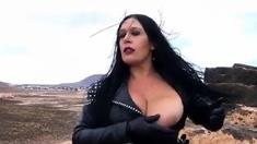 Leather Biker Girl Blowjob