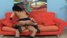 Horny policewoman let's a hung guy work off his ticket with his dick