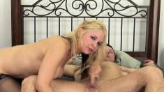 Blonde Sarah loves to eat dick and even better, loves to get drilled