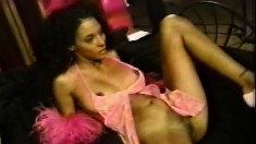 Cute ebony is getting her cunny hammered by a big black dick