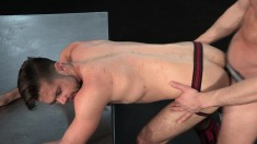 Stunning gay lovers blow each other's poles and enjoy hard anal sex