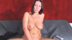 Redheaded Amateur Milf With A Sex Toy On Webcam Show