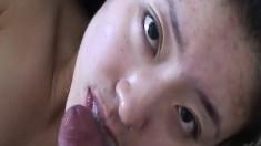 Young Asian Girl Loves Sperm