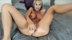 Fit Blonde Milf With Really Big Tits Sucking and Fucking Big