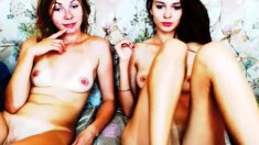 Amateur Lesbian Threeway With Fingering Session