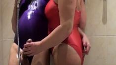 Pantyhose In Bathroom
