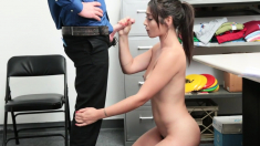 Gorgeous Teen Shoplifter Throats And Fucked By Store Officer