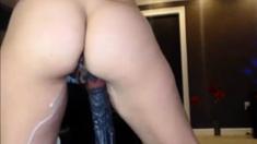 Huge Black Cock Cumming Inside Pussy
