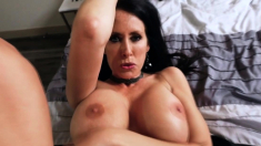 Busty MILF is ready to blow her stepson's huge dick today.