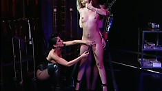 Horny Nina Hartley and Sarah Blake fuck young innocent Natasha Sweet