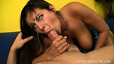Phat as fuck Penelope Piper oils up and gets banged by a big dick