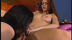 Naughty lesbians Taylor and Sarah take each other's pussies to orgasm
