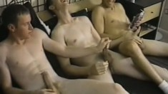 Horny Navy soldiers on leave meet up for a hot, sexy gay threesome