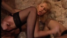 Nikki Anderson is one of many girls fucking and sucking at the orgy